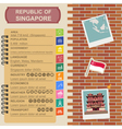 Singapore infographics statistical data sights vector image vector image