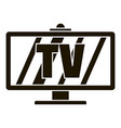 smart modern tv icon simple style vector image vector image