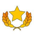 star award laurel premium winner emblem vector image