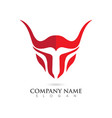 taurus logo template vector image