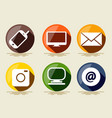 technology icons flat design computer envelope pc vector image