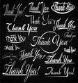 Thank You Typography vector image vector image