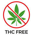 thc free icon on white background vector image