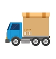 truck vehicle transport isolated icon vector image vector image