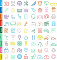 web icons set for business vector image vector image
