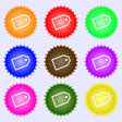 Web stickers icon sign A set of nine different vector image vector image