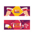 wine lover banners oh look vector image