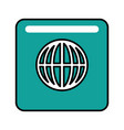 world connection button vector image vector image