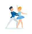 dance of delicate ballet in interesting setting vector image