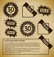 Sale vintage stamp labels vector image