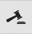 auction hammer icon court tribunal flat icon vector image