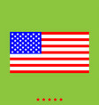 american flag icon different color vector image