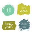 set of vegan eco organic green design templates vector image