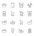 16 basket icons vector image vector image