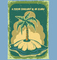a palm on island vector image vector image