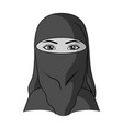 a woman from the middle easthuman race single vector image vector image