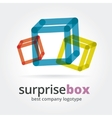 Abstract logotype with two box