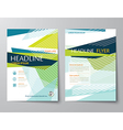 abstract low polygon templates for flyer brochure vector image