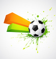abstract style football design vector image vector image