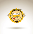 artistic colorful drawing of bizarre person face vector image vector image