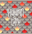 autumn creative background vector image vector image