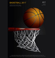 basketball poster advertising vector image vector image