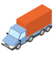 box truck isometric vector image