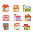 building flat style set vector image