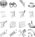 Bw icon set vector image vector image