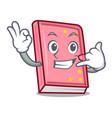 call me diary mascot cartoon style vector image vector image
