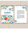 Card with Gears and Torn Paper vector image vector image