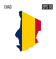 chad map border with flag eps10 vector image vector image