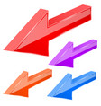 colored arrows 3d previous sign vector image vector image