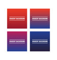 colorful gradient backgrounds set vector image vector image