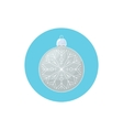 Colorful Icon Christmas Silver Ball with Snowflake