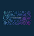 coronavirus in turkey colorful linear vector image vector image