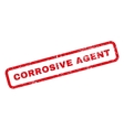 Corrosive Agent Rubber Stamp vector image vector image