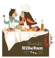 couple cooking meal vector image vector image