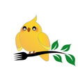 Cute cockatiel holding a fork vector image vector image