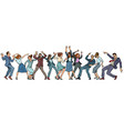 dancing people businessmen and businesswomen vector image vector image