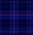 deep blue tartan plaid pattern vector image