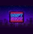 drift show sign design template show vector image