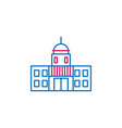 elections capitol outline colored icon can be vector image