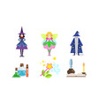 fairytale fantasy characters with magical vector image vector image