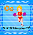 flashcard letter c is for cheerleader vector image vector image