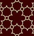 flowers pattern red and gold decor vector image