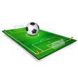 football field soccer field set with football vector image vector image