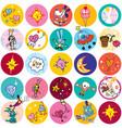 fun cartoon characters circles vector image vector image