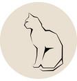 grey silhouette of cat dark wild vector image vector image
