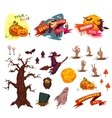 Halloween party set elements Banners and vector image vector image